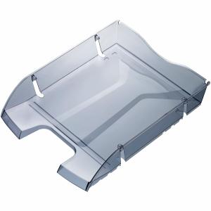 Briefkorb Helit Eco, aus 100% Pet-Flaschen, A4, grau transparent