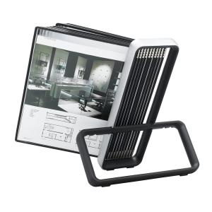 Tischsichttafelsystem Tarifold VEO 6744107, inkl. 10 Sichttaschen A4, schwarz