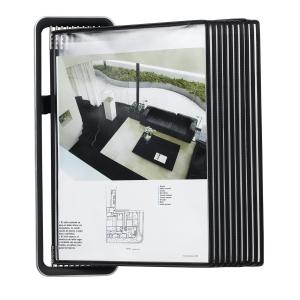 Wandsichttafelsystem Tarifold VEO 6714507, inkl. 10 Sichttaschen A4, schwarz