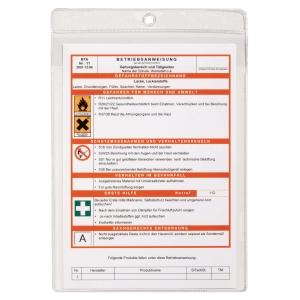 Aufhängesichttasche Durable 2307-19, A4, mit Lochung, transparent, Pk. à 10 Stk.
