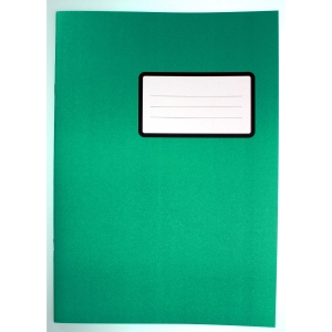 Schulheft A4, 4 mm kariert mit Rand, 20 Blatt, grün