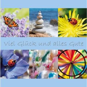 Doppelkarte Art Bula 15057, Abschied, 212x212 mm, deutsch