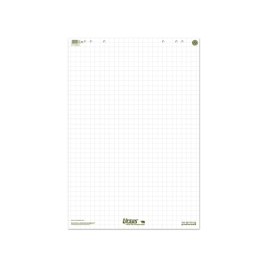 Flipchart-Block Ursus, 68x99 cm, 20 Blatt, blanko/kariert, 80 g, weiss