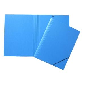 Dossier à élastiques en presspahn A4 sans rabats, bleu (3228)