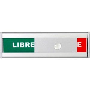 Türschild BoOffice, 105x31 mm, Libre/Occupé, Aluminium