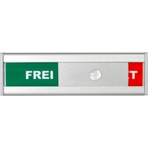 Türschild BoOffice, 105x31 mm, Frei/Besetzt, Aluminium