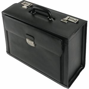 Piloten-Koffer Alassio Ferrara, Leder, schwarz
