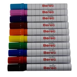 Board-und Flipchart Marker Berec, Rundspitze, Strichbreite 1-4 mm, 10er-Set, ass