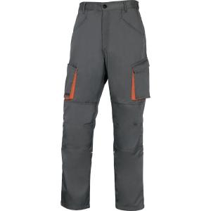 Arbeitshose Deltaplus M2PAN, Grösse S, 65% Polyester 35% Baumwolle, grau
