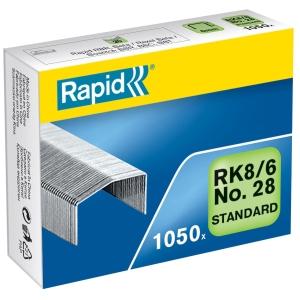 Heftklammern Rapid Typ B8, 6 mm, Packung à 1050 Stück