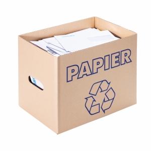 Recyclingbox Brieger 250/30, 372x247x300 mm, braun