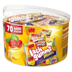 Lachgummi minis Nimm2 10.5 g, Dose à 70 Stück