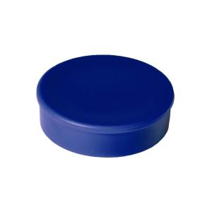 Haft-Magnet Berec, mit Kunststoffkappe, rund, 30 mm, blau, Packung à 10 Stück