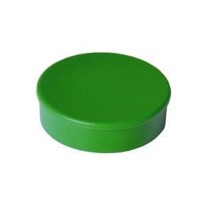 Haft-Magnet Berec, mit Kunststoffkappe, rund, 30 mm, grün, Packung à 10 Stück