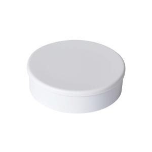 Haftmagnet Berec, mit Kunststoffkappe, rund, 30 mm, weiss, Packung à 10 Stück