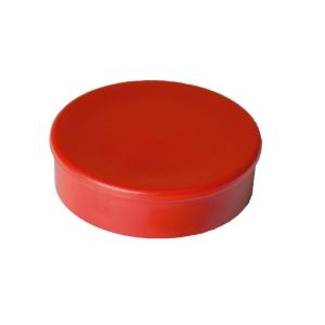 Haft-Magnet Berec, mit Kunststoffkappe, rund, 30 mm, rot, Packung à 10 Stück