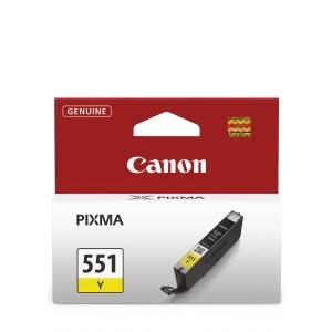 Tintenpatrone Canon CLI-551Y, 344 Seiten, yellow