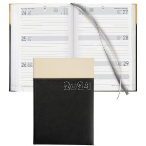 Agenda Biella Dispo Term 808546, 1 Woche auf 2 Seiten, Kunstleder, schwarz