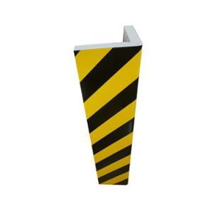 Eckenschutz L-Form Viso PU7325NJ, Zuschnitt 75 cm, 30x25 mm, schwarz/gelb