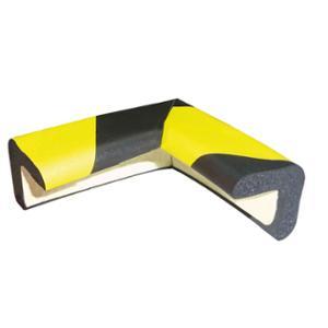 Schutzecke Viso PU30NJ, Zuschnitt 70x30x8 mm, schwarz/gelb