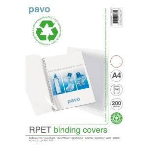 Umschlagdeckel Pavo A4, Recycling, 200 my, transparent, Packung à 100 Stück