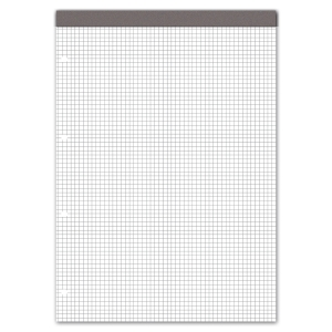 Notizblock A4, 70 g/m2, 4 mm kariert, 4fach gelocht, 100 Blatt