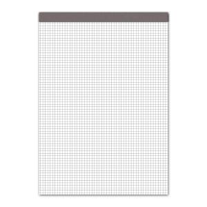 Notizblock A4, 70 g/m2, 4 mm kariert, 100 Blatt