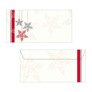 Couvert Sigel Starlets 220x110 mm, 90 g/m2, Weihnachten, Pk. à 25 Stk.