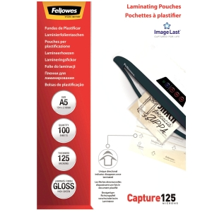 Laminierfolie Fellowes ImageLast A5, 2x125 my, glanz, Packung à 100 Stück