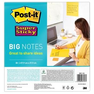 Post-it Super Sticky BN11-EU, 27,9x27,9 cm, 30 Blatt, gelb