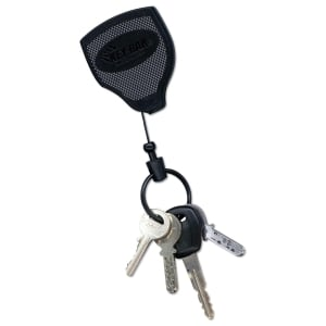 Schlüsselanhänger Rieffel KB Super 48, Auszugskette 120 cm, Gürtelclip, schwarz