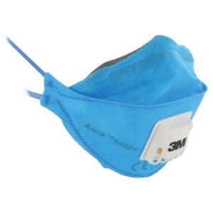 Atemschutzmaske 3M 9422+ Aura, Typ FFP2, mit Ausatemventil, blau, Pk. à 10 Stk.