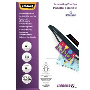 Laminierfolie Fellowes ImageLast A5, 2x80 my, glanz, Packung à 100 Stück