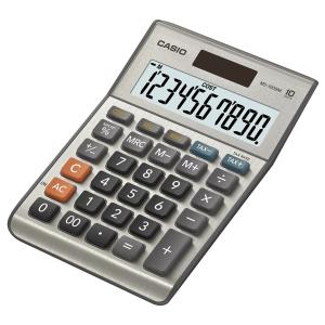 Tischrechner Casio MS-100BM, 10-stellige Anzeige, silber