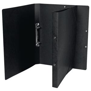 Ringbuch Biella Top Color 157402, A4, 2-Ring,Gummiband, 2,5 cm Rücken, schwarz