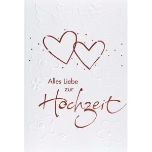 Doppelkarte ABC 44780, Hochzeit, 117x173 mm, deutsch