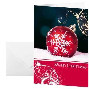 Weihnachtskarte Sigel, A6, englisch, Packung à 10 Stück