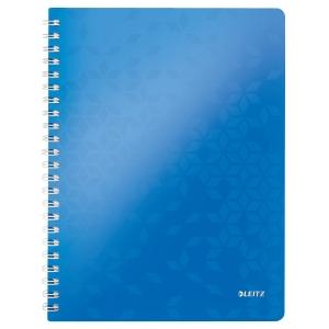College-Block Leitz WOW 4638 A4, 80 Blatt, 80 g/m2, 5 mm kariert, blau