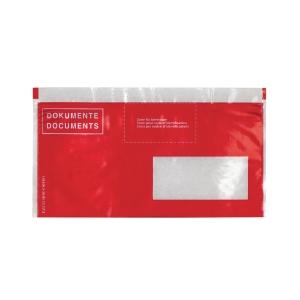 Dokumententasche Elco Vitro 29023.80, C5/6, Fenster rechts, rot, Pk. à 250 Stk.