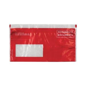 Dokumententasche Elco Vitro 29028.80, C5/6, Fenster links, rot, Pk. à 250 Stk.