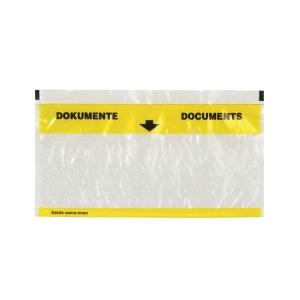 Dokumententasche Elco Vitro 29003.00, C5/6, gelb/transparent, Pk. à 250 Stk.