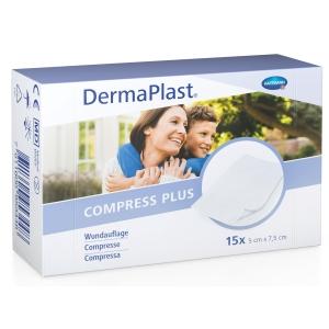 DermaPlast Telfa Kompressen, Vliesstoff, 5x7 cm, Packung à 15 Stück