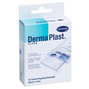 DermaPlast Clean Wundreinigungstücher, 13x20 cm, Packung à 10 Stück