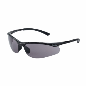 Schutzbrille Bollé CONTOUR, Filtertyp 5, grau/schwarz, Scheibe grau
