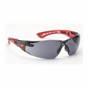 Schutzbrille Bollé RUSH+ RUSHPPSF, Filtertyp 5, schwarz/rot, Scheibe grau