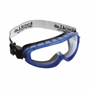 Vollsicht Schutzbrille Bollé ATOM, Filtertyp 2C, blau, Scheibe farblos