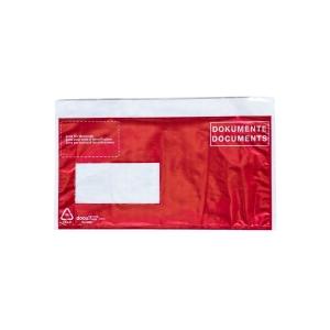Dokumententasche VP, C5/6, Fenster links, rot, Packung à 250 Stück