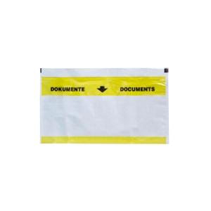 Dokumententasche VP, C5/6, gelb/transparent, Packung à 250 Stück