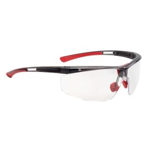 Schutzbrille Honeywell Adaptec, Filtertyp 2C, schwarz/rot, Scheibe farblos