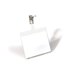 Namensschilder Durable 8003-19, 60x90 mm, mit Clip, quer, Packung à 25 Stück